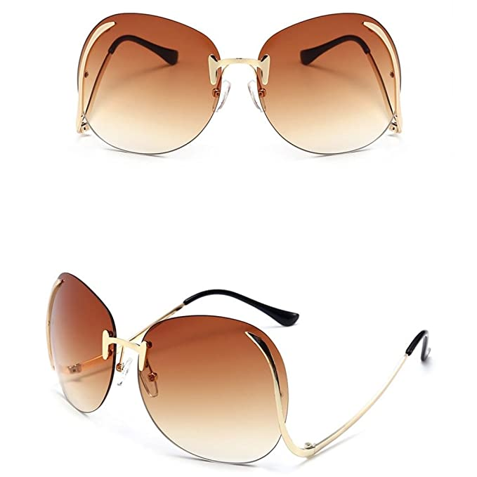 Unisex Mode Retro Outdoor AC-Objektiv UV400 Aviator Sonnenbrille Brillen,Braun